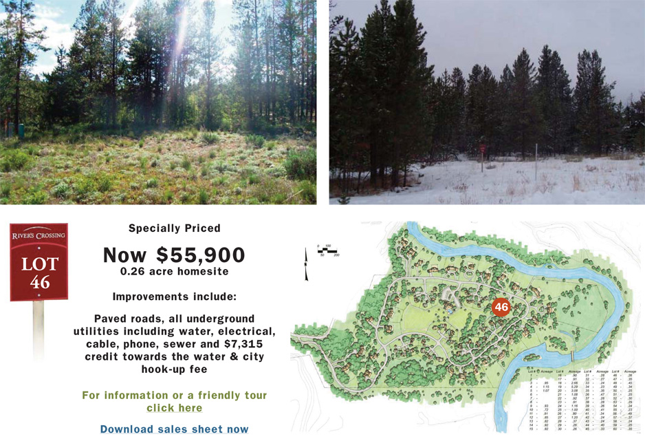 Rivers Crossing Mcall Idaho, Lot 46 Specially Priced at $55,900.